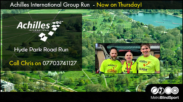 Achilles International Group Run - Now on Thursday!