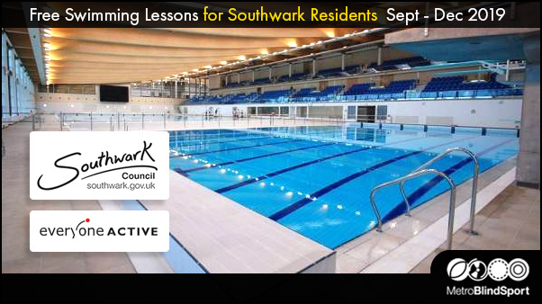 Free Swimming Lessons for Southwark residents Sept - Dec 2019