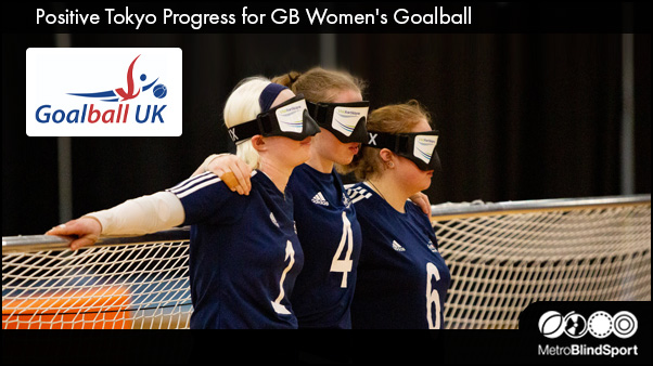 GB women squad stood at their goal before a match