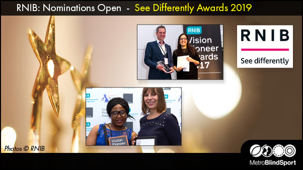 RNIB: Nominations Open - See Differently Awards 2019