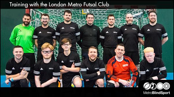 Training with the London Metro Futsal Club