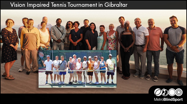 Vision Impaired Tennis Tournament in Gibraltar