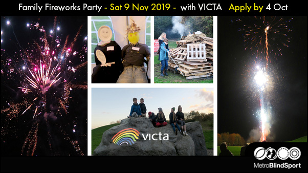Family Fireworks Party Sat 9 Nov 2019 with VICTA Apply by 4 Oct