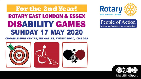 Rotary East London & Essex Disability Games  17 May 2020