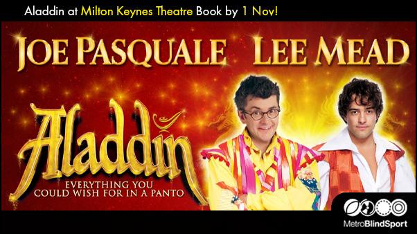Aladdin at Milton Keynes Theatre with VICTA - Book by 1 Nov!