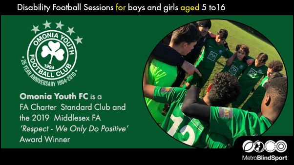 Disability Football Sessions for boys and girls aged 5 to16