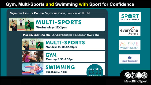 Gym, Multi-Sports and Swimming with Sport for Confidence