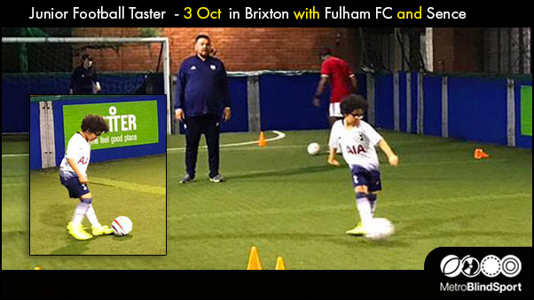 Junior Football Taster 3 Oct in Brixton