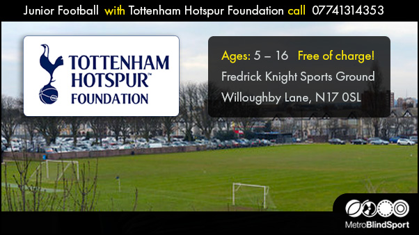 Junior Football with Tottenham Hotspur Foundation