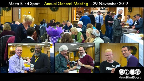 Metro Blind Sport Annual General Meeting 29 November 2019