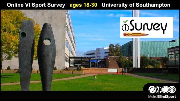 Online VI Sport Survey ages 18-30 University of Southampton