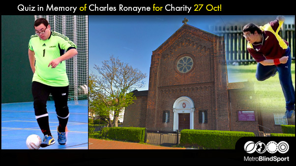 Quiz in Memory of Charles Ronayne for Charity 27 Oct!