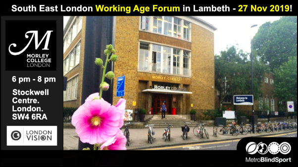 South East London Working Age Forum in Lambeth - 27 Nov 2019!