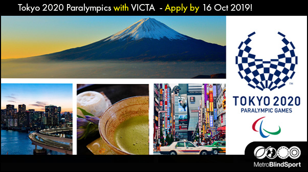 Tokyo 2020 Paralympics with VICTA apply by 16 Oct