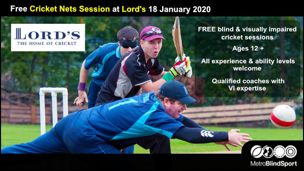 Free Cricket Nets session at Lords - 18 Jan 2020
