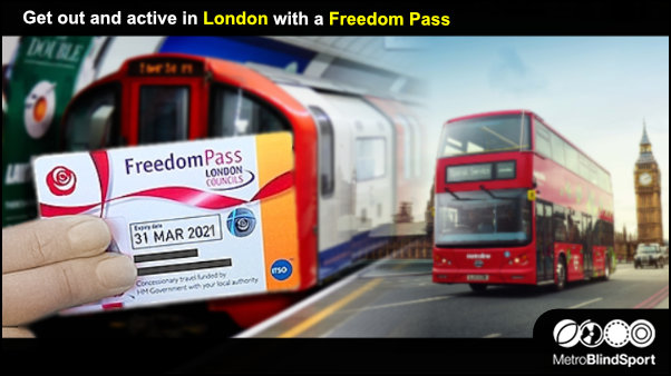 Get out and active with a London with a Freedom Pass