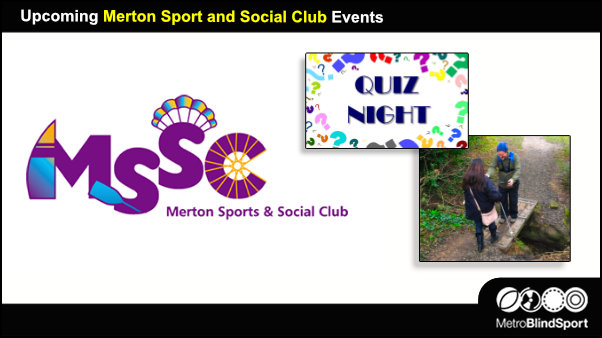 Upcoming Merton Sport and Social Club Events