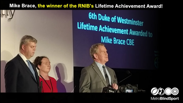 Mike Brace the winner of the RNIB's lifetime achievement award