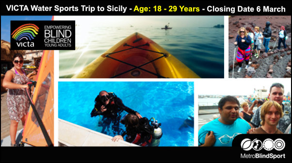 VICTA Water Sports Trip to Sicily Age 18 29 Years Closing Date 6 March