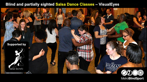 Blind and partially sighted Salsa Dance Classes with VisualEyes