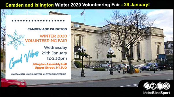 Camden & Islington Volunteering Fair - 29 January 2020