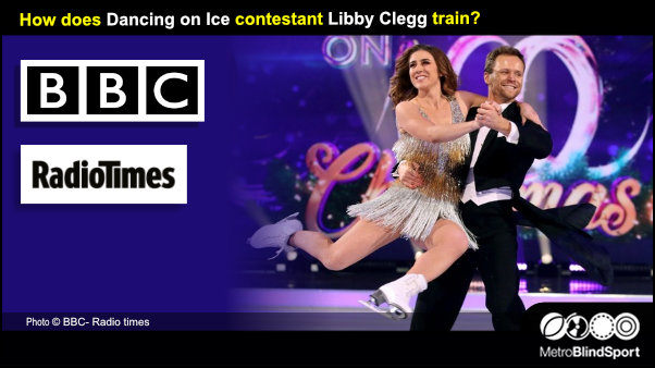 How does Dancing on Ice contestant Libby Clegg train