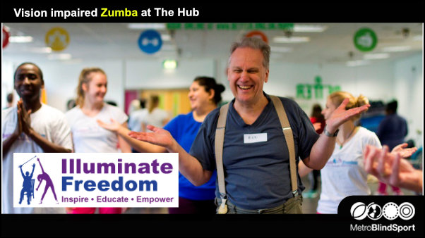 Vision impaired Zumba at The Hub