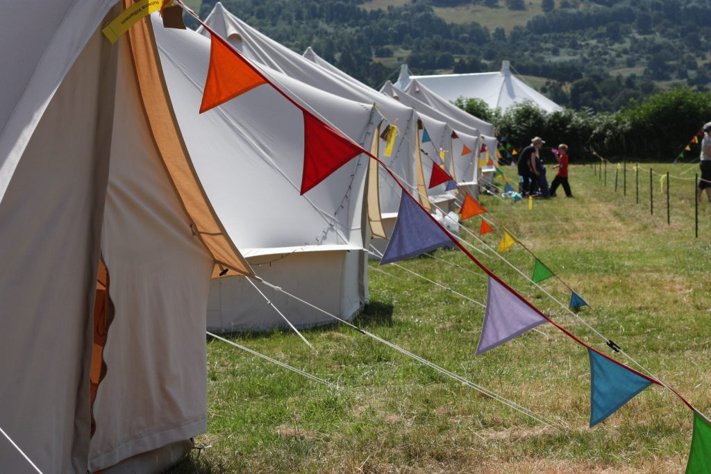tents and bunting at LOOKFest