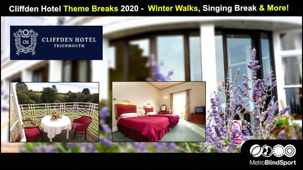 Cliffden Hotel Theme Breaks 2020 - Winter Walks, Singing Break & More!