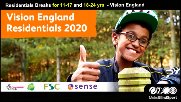 Residential breaks for young people with vision impairment