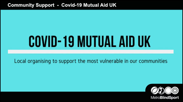 Community Support COVID-19 Mutual Aid UK