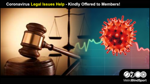 Coronavirus Legal Issues Help - Kindly Offered to Members