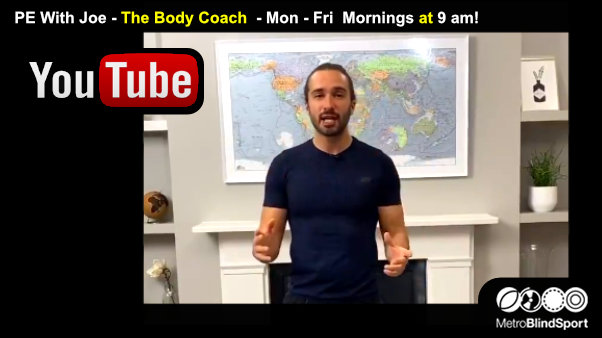 PE With Joe Wicks - Mon - Fri Mornings at 9 am