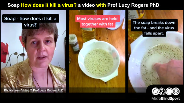 Soap How does it kill a virus? a video with Prof Lucy Rogers PhD