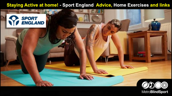 Staying active at home - Sport England advice and links