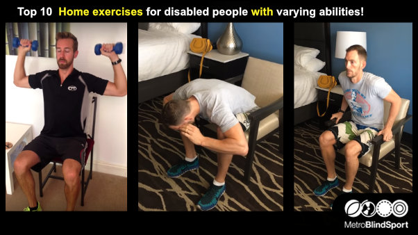 Top 10 Home Exercises for disabled people with varying abilities