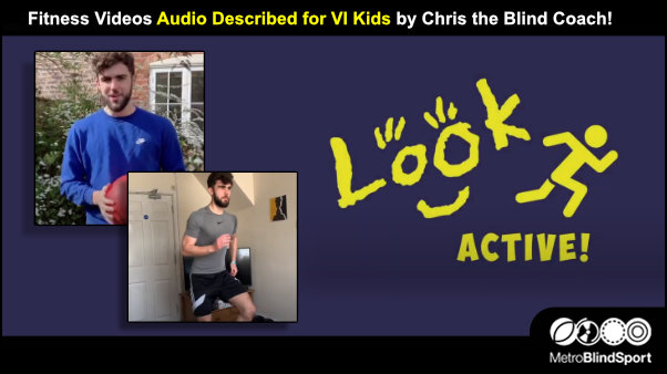 Fitness Videos described for VI Kids by Chris the Blind Coach!
