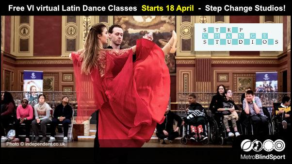 Free VI virtual Latin Dance Classes Start 18 April - Step Change Studios!