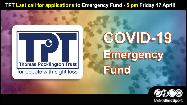 TPT Last call for applications to Emergency Fund - 5 pm Friday 17 April!