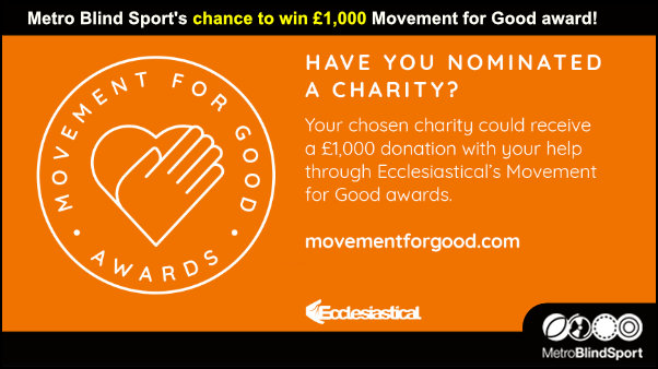 Metro's chance to win £1,000 Movement for Good award