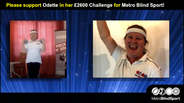 Please support Odette in her £2600 Challenge for Metro Blind Sport!