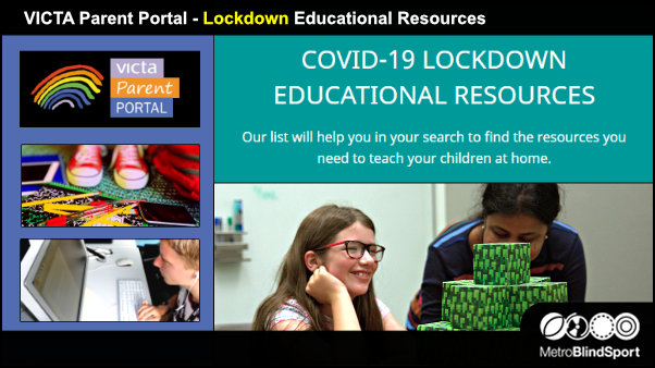VICTA Parent Portal Lockdown Educational Resources