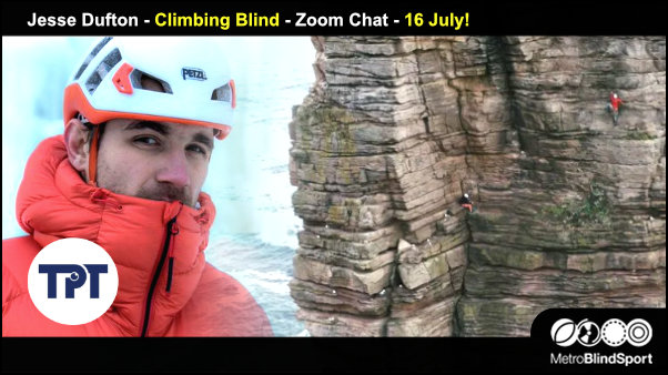 Jesse Dufton - Climbing Blind - Zoom Chat - 16 July!