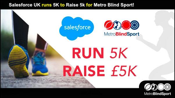 Salesforce UK runs 5K to Raise 5k for Metro Blind Sport!