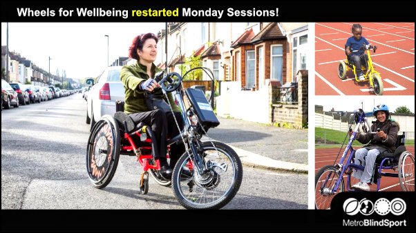 Wheels for Wellbeing restarted Monday Sessions!
