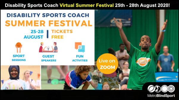 Disability Sports Coach Virtual Summer Festival-25th-28th August 2020