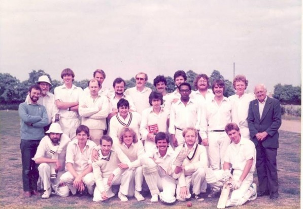 The 'Railway Taverners' 1st cricket team can be seen in the photograph 1981