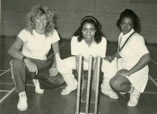 Haringey Cricket College, Selby Centre, Girls' Training Session 1990