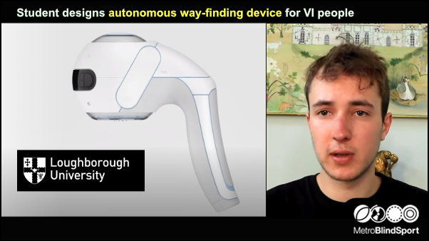 Student designs autonomous way-finding device for VI people