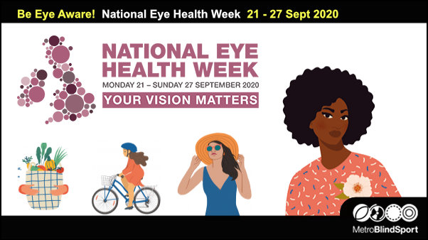 Be Eye Aware! National Eye Health Week 21 - 27 Sept 2020